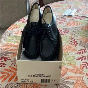 SAS Bounce Back Black Leather Shoes